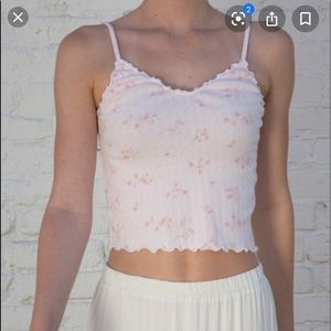 brandy pink nicolette ruffle floral tank